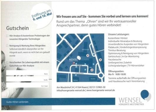 KaarsterLeben - Eröffnungsanzeige